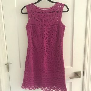 Lilly Pulitzer Small Pink Purple Lace Shift Dress